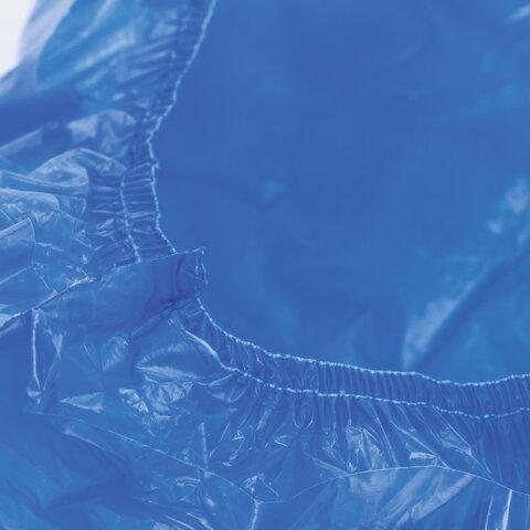 Бахилы КОМПЛЕКТ 30 штук (15 пар), СВЕРХПРОЧНЫЕ, двойная резинка, 40х14 см, 100 мкм, 10 г, LAIMA, 104981