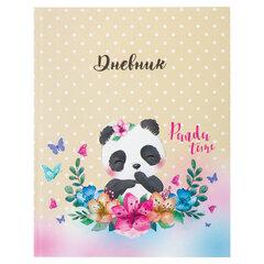 Дневник 1-4 класс, 48 л., твердый, ЮНЛАНДИЯ, выборочный лак, с подсказом, «Милая панда», 106028