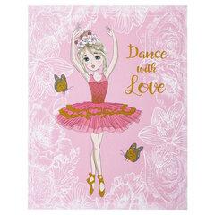 Дневник 1-4 класс, 48 л., твердый, ЮНЛАНДИЯ, блестки, с подсказом, «Балерина», 106031