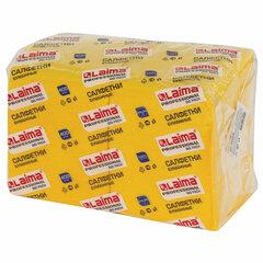 """Салфетки бумажные 400 шт., 24х24 см, LAIMA, """"Big Pack"""", желтые (интенсив), 100% целлюлоза, 111794"""