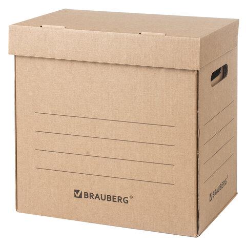 """Анонс-изображение товара короб архивный """"делопроизводство"""" (325х235х325мм), с крышкой, гофрокартон, brauberg, 129999"""