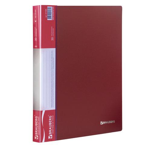 Анонс-изображение товара папка  30 вклад. brauberg стандарт, красная, 0,6мм, 221598