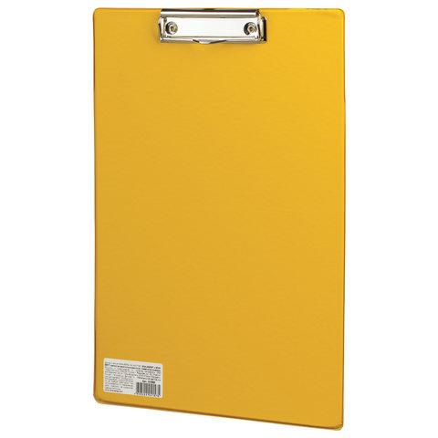 """Анонс-изображение товара доска-планшет brauberg """"comfort"""" с верхним прижимом а4, 23*35см, картон/пвх, россия, желтая, 222662"""