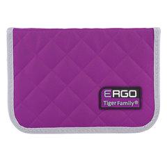 Пенал TIGER FAMILY (ТАЙГЕР), 1 отделение, 2 откидные планки, фиолетовый, 20х14х4 см