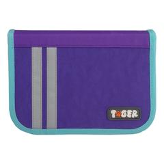 "Пенал TIGER FAMILY (ТАЙГЕР), 1 отделение, откидная планка, ""Minty Purple"", 20х14х4 см"