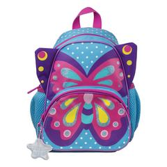 "Рюкзак TIGER FAMILY (ТАЙГЕР) для дошкольников, голубой, девочка, ""Милая бабочка"", 26х21х13 см"