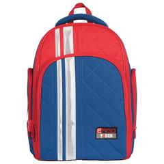 Рюкзак TIGER FAMILY (ТАЙГЕР), с ортопедической спинкой, для средней школы, универсальный, синий/красный, 39х31х22 см