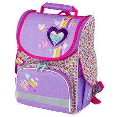 "Ранец TIGER FAMILY, для начальной школы, Nature Quest, девочка, ""Pink Amour"", 35х31х19 см, 227865"