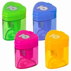 Точилка ЮНЛАНДИЯ «Трио», с контейнером, пластиковая, корпус ассорти, 228438