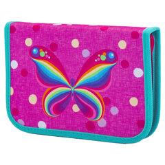 """Пенал TIGER FAMILY 1 отделение, 1 откидная планка, ткань, """"Rainbow Butterfly"""", 20х14х4 см, 228885"""