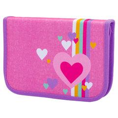 """Пенал TIGER FAMILY 1 отделение, 1 откидная планка, ткань, """"Pink Amour"""", 20х14х4 см, 228888"""