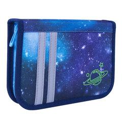 """Пенал TIGER FAMILY 1 отделение, 1 откидная планка, ткань, """"Super Galaxy"""", 20х14х4 см, 228899"""