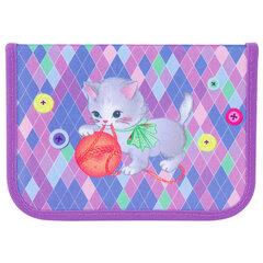 """Пенал TIGER FAMILY 1 отделение, 1 откидная планка, ткань, """"Playful Kitten"""", 20х14х4 см, 228914"""