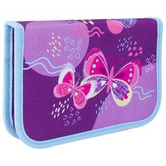 "Пенал TIGER FAMILY 1 отделение, ткань, ""Rhythmic Butterfly"", 20х14х4 см, 228956"