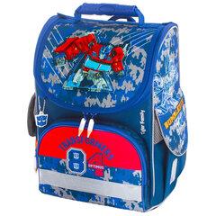 "Ранец TIGER FAMILY для начальной школы, Nature Quest, ""Optimus Prime"", ЛИЦЕНЗИЯ, 35х31х19 см, 228971"