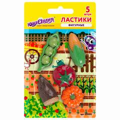 Набор ластиков фигурных ЮНЛАНДИЯ «Огород», 5 шт., ассорти, 229595