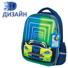 Ранец ЮНЛАНДИЯ LIGHT, 2 отделения, «Neon car», 3D панель, 38х29х16 см, 229917
