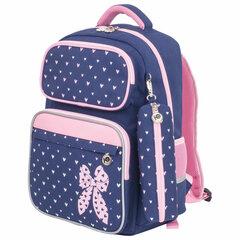 Рюкзак ЮНЛАНДИЯ COMPLETE, с пеналом в комплекте, эрго-спинка, «Pink bow», 42х29х14 см, 229972