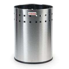 """Корзина металлическая для мусора LAIMA """"Bionic"""", 7 л, матовая, перфорированная, несгораемая, 232267"""