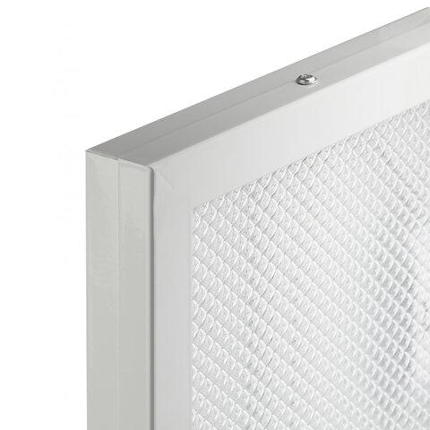 Светильник светодиодный с драйвером, нейтральный белый, АРМСТРОНГ SONNEN ЭКО, 4000 K, 595х595х19 мм, 36 Вт, прозрачный, 237152