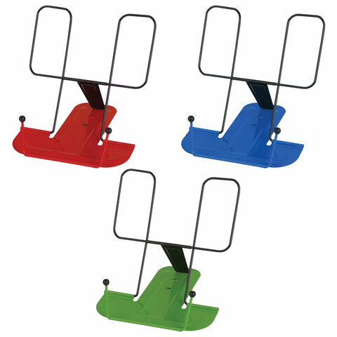 """Анонс-изображение товара подставка для книг юнландия """"original"""", металлическая, ассорти, европодвес, 237209"""