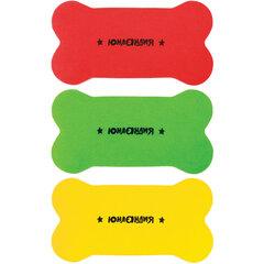 Стиратели магнитные для магнитно-маркерной доски ЮНЛАНДИЯ «Косточка», 55х110 мм, КОМПЛЕКТ 3 ШТ., ассорти, 237503
