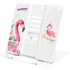 Подставка для книг и учебников ЮНЛАНДИЯ «Flamingo», регулируемый угол наклона, металл, 237573