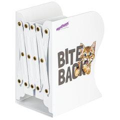 Подставка-держатель для книг и учебников ЮНЛАНДИЯ «Bite Back», раздвижная, металлическая, 237890