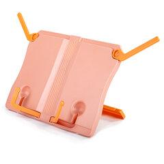 Подставка для книг ЮНЛАНДИЯ, регулируемый наклон, прочный ABC-пластик, розовая, 237906