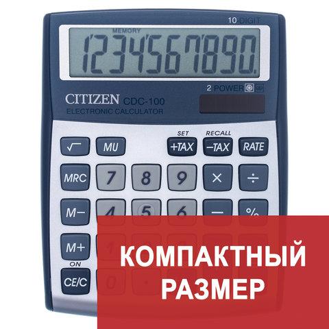 Анонс-изображение товара калькулятор citizen настольный cdc-100, 10 разр., двойное питание, 135x108мм, оригинальный