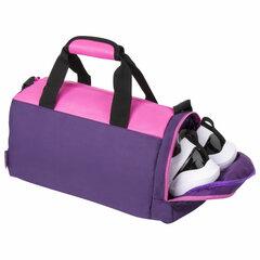 Сумка спортивная ЮНЛАНДИЯ с отделением для обуви, 40х22х20 см, фиолетовый/<wbr/>розовый, 270094
