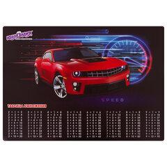 Настольное покрытие ЮНЛАНДИЯ, А3<wbr/>+<wbr/>, пластик, 46×33 см, «Red Car», 270398