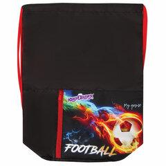 Мешок для обуви ЮНЛАНДИЯ, на шнурке, карман на молнии, 33х42 см, «Fireball», 270408