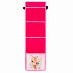 Кармашки-органайзер в шкафчик для детского сада ЮНЛАНДИЯ на резинке, 5 карманов, 21х68 см, «Giraffe», 270409