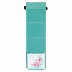 Кармашки-органайзер в шкафчик для детского сада ЮНЛАНДИЯ на резинке, 5 карманов, 21х68 см, «Bunnies», 270410