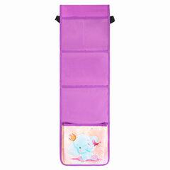 Кармашки-органайзер в шкафчик для детского сада ЮНЛАНДИЯ на резинке, 5 карманов, 21х68 см, «Elephant», 270411