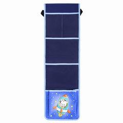 Кармашки-органайзер в шкафчик для детского сада ЮНЛАНДИЯ на резинке, 5 карманов, 21х68 см, «Bear», 270412