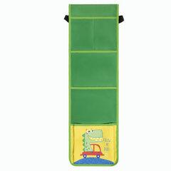 Кармашки-органайзер в шкафчик для детского сада ЮНЛАНДИЯ на резинке, 5 карманов, 21х68 см, «Crocodile», 270413