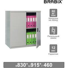 "Шкаф металлический (антресоль) BRABIX ""MK 08/46"", 830х915х460 мм, 24 кг, 1 полка, разборный, 291137"