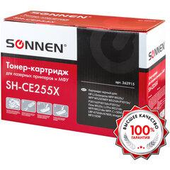 Картридж лазерный SONNEN (SH-CE255X) для HP LaserJet P3015d/P3015dn/P3015x, ВЫСШЕЕ КАЧЕСТВО, ресурс 12500 стр., 362915