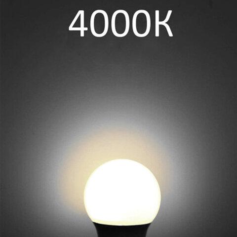 Лампа светодиодная SONNEN, 12 (100) Вт, цоколь Е27, грушевидная, нейтральный белый свет, 30000 ч, LED A60-12W-4000-E27, 453698
