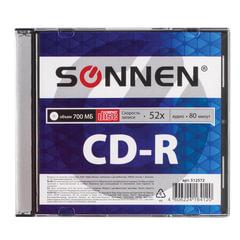 Диск CD-R SONNEN, 700 Mb, 52x, Slim Case (1 штука), 512572