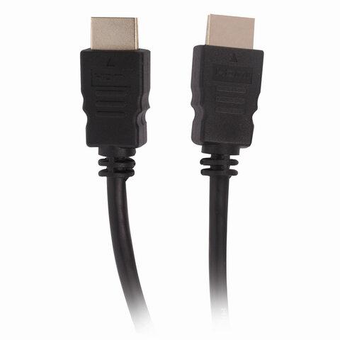 Кабель HDMI AM-AM, 1,5 м, SONNEN Premium, медь, для передачи аудио-видео, экранированный, 513130
