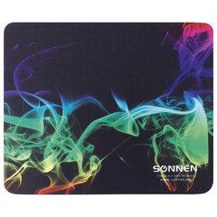 """Коврик для мыши SONNEN """"SMOKE"""", резина + ткань, 220х180х3 мм, 513289"""