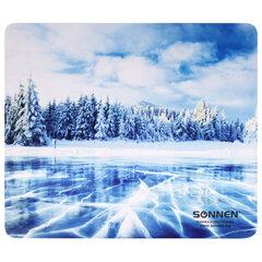 """Коврик для мыши SONNEN """"WINTER"""", резина + ткань, 260х220х3 мм, 513295"""