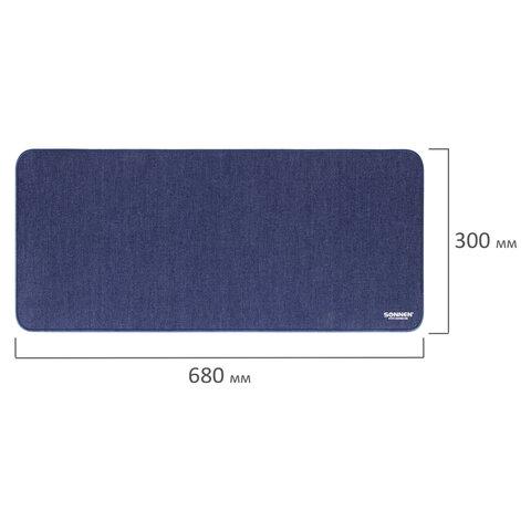 "Коврик для мыши игровой SONNEN ""MID RANGE"", резина + ткань, 680х300х3 мм, 513304"