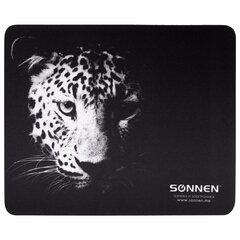 """Коврик для мыши SONNEN """"LEOPARD"""", резина + ткань, 220х180х3 мм, 513314"""