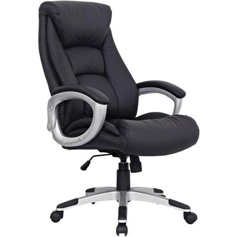 """Кресло офисное BRABIX """"Grand EX-500"""", натуральная кожа, черное, 530861"""