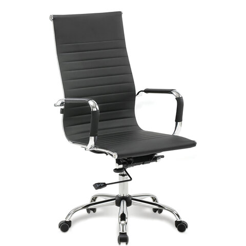 """Кресло офисное BRABIX """"Energy EX-509"""", экокожа, хром, черное, 530862"""