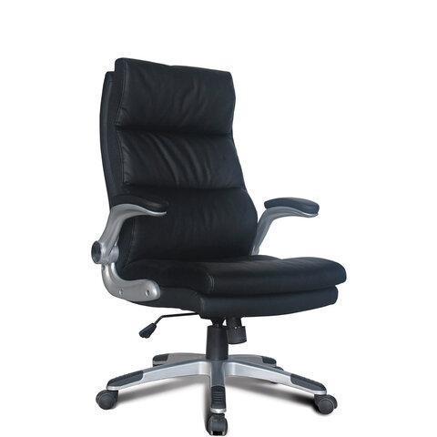 """Кресло офисное BRABIX """"Fregat EX-510"""", рециклированная кожа, черное, 530863"""